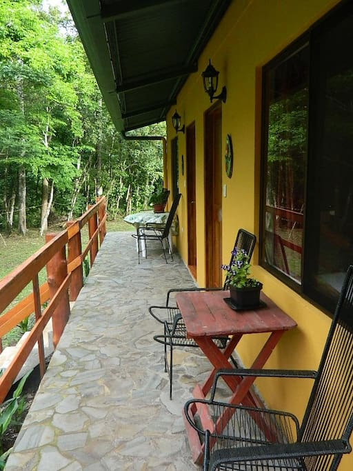 Enjoy the wildlife right from your veranda in the River View Casita