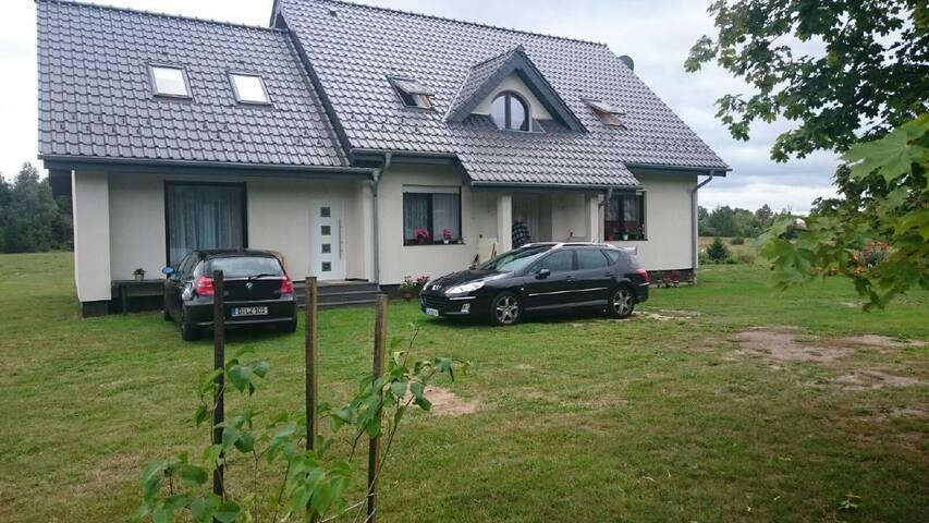 Schönes Ferienhaus in Naterki Olstyn Allenstein