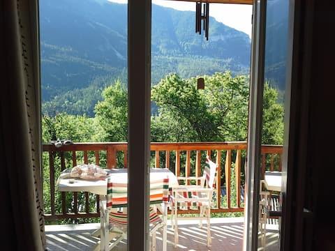 Val d'Allos-Beauvezer: Appart douillet dans chalet