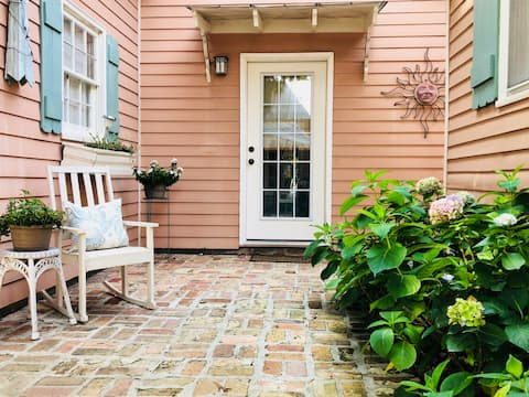 Main Street Retreat in Top-Rated Small Beach Town