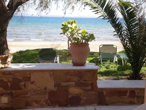 Chios - Studio  direct sur plage face a la mer