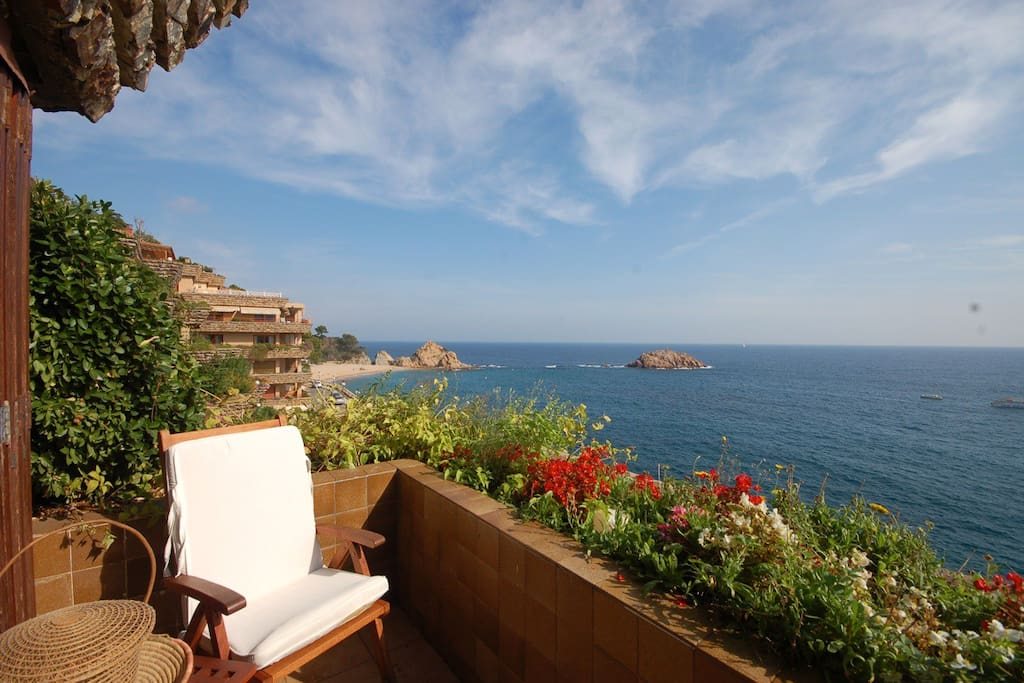 privileged terrace, from where you can see amazing sunrise and sunset ...