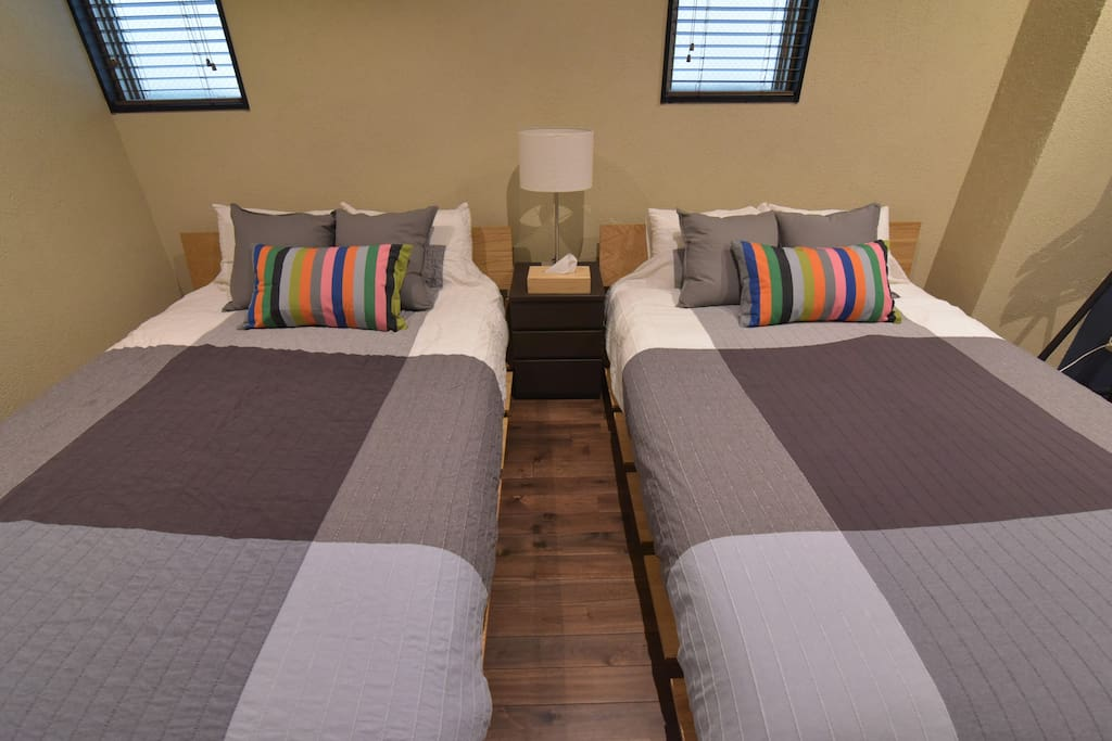 #203 double-bedded room