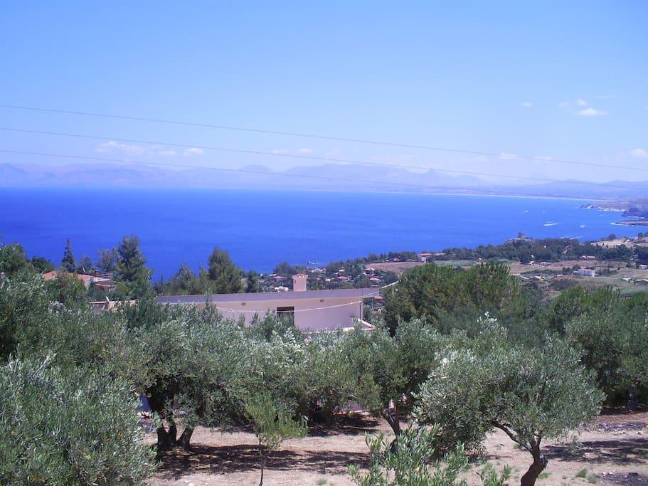 The view on the gulf of Castellammare and Scopello