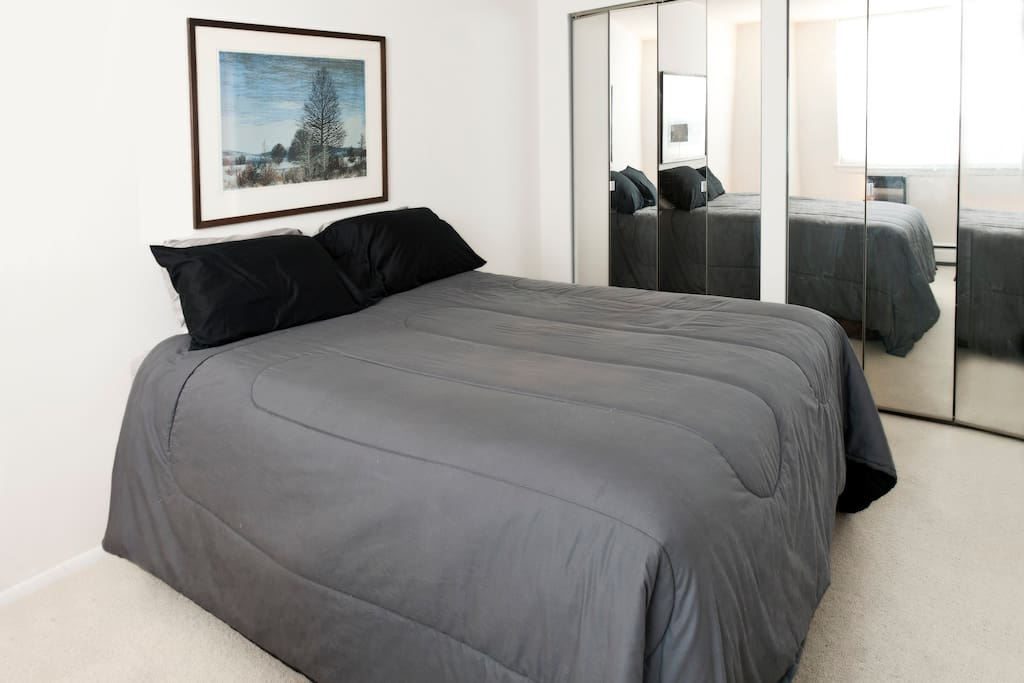 Comfortable Queen-size bed and closets