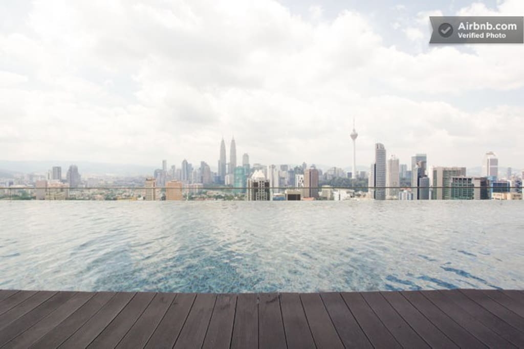 View of the Pool and KLCC @ the Skydeck