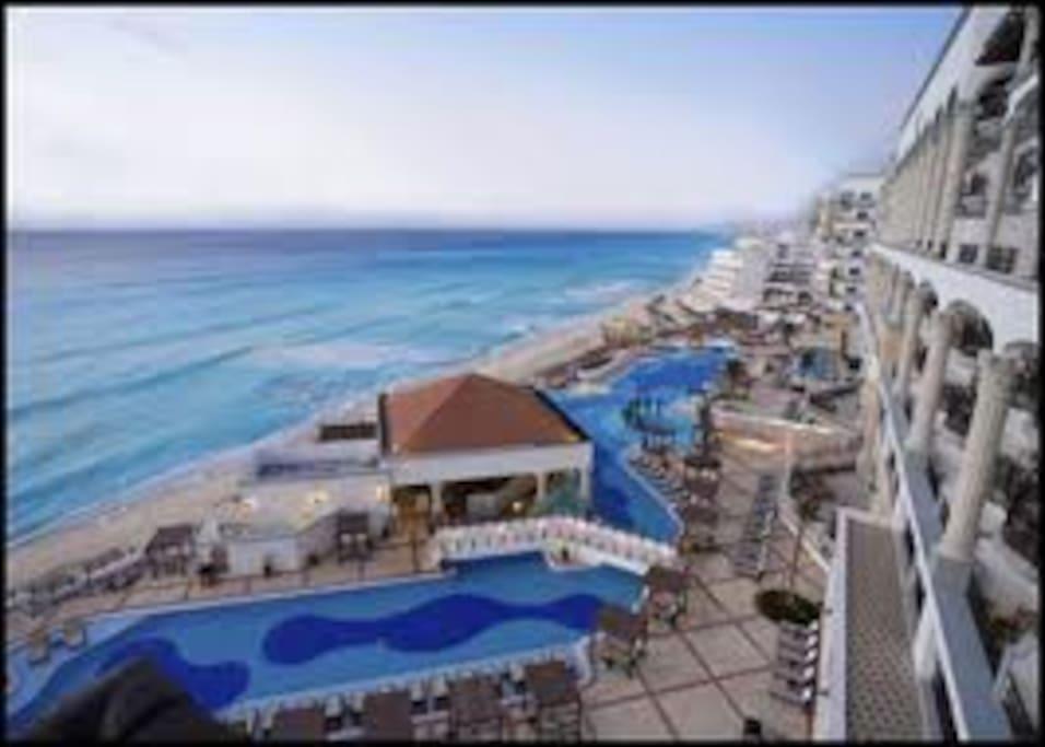 resort side view...