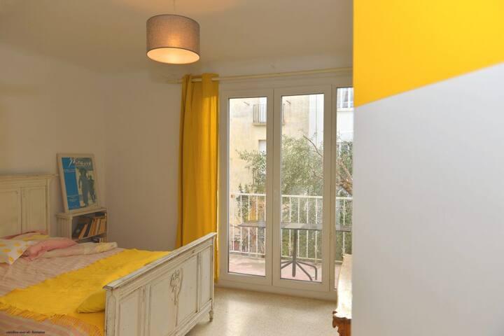 La Résidence Venise Chambre Jaune /balcon jardin