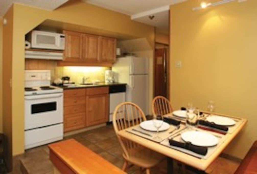 A full kitchen to accommodate long stays