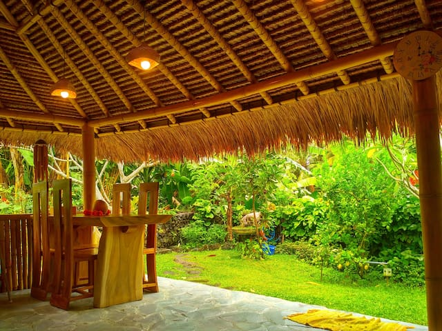 *Bamboo eco 2 br house real Bali for you!