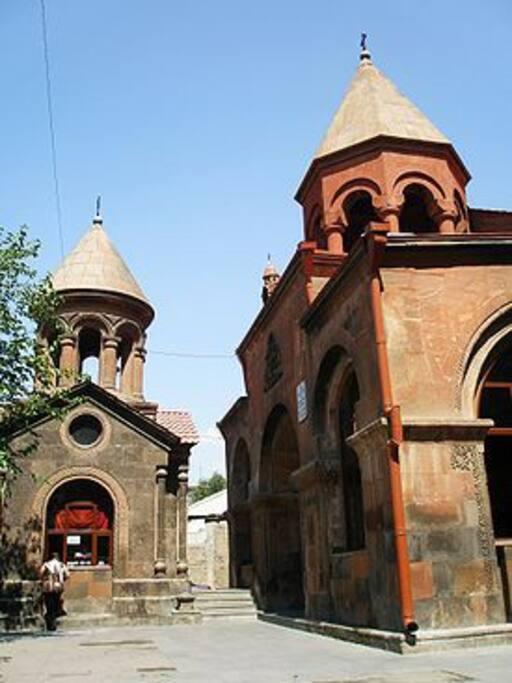 Zoravar Church facing the Apartment