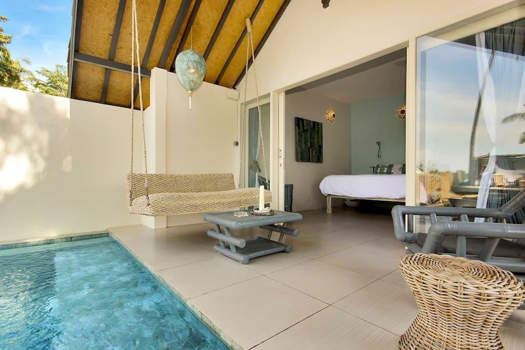 Your own swing and plunge pool