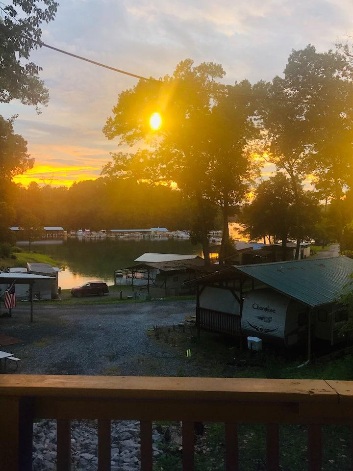 Rustic Camper Oasis + Beautiful Sunset View