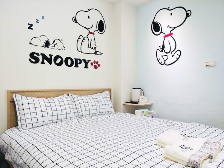 Snoopy House |  Ximen MRT 3 min | week 5%off