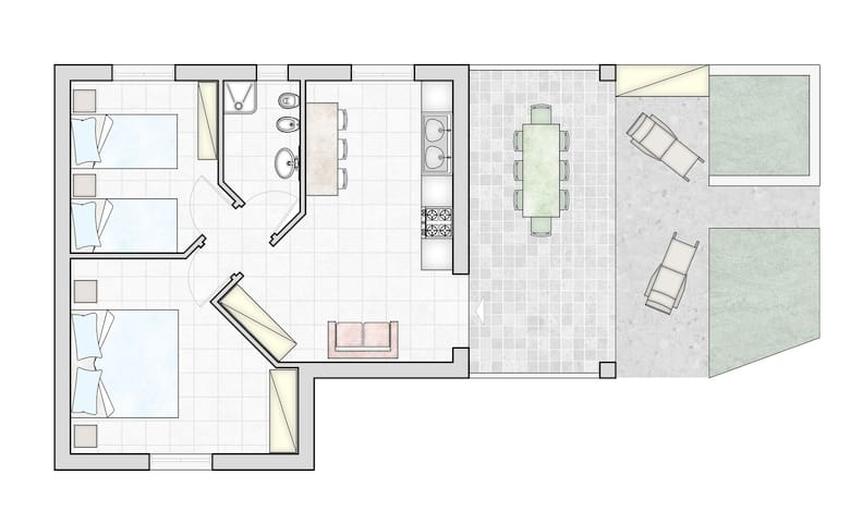Apartment Mirto _ Tanaunella - Tanaunella - Apartemen