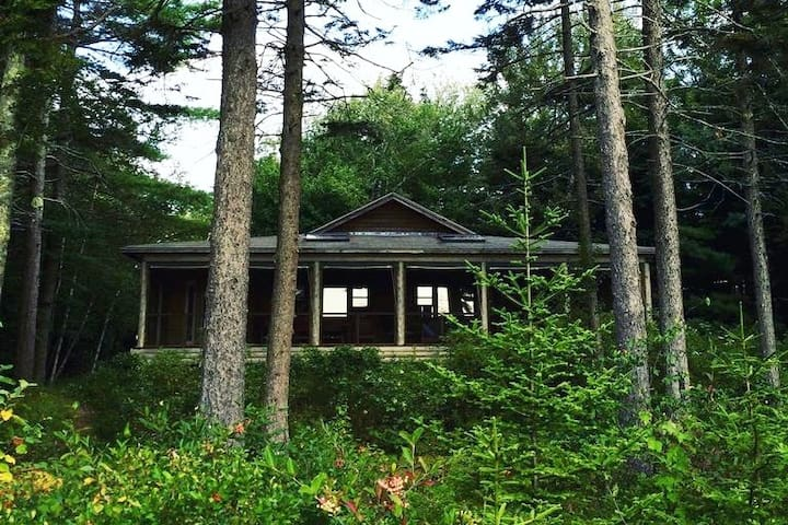 Nestled in the pines.