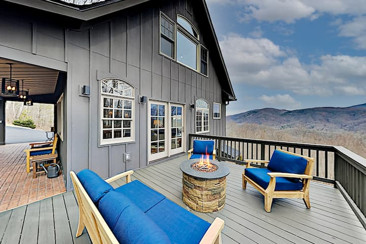Mountain-View Home with Private Hot Tub & Firepit