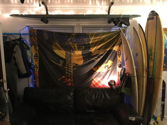 PB Surf Shack plus free use of surfboards and more