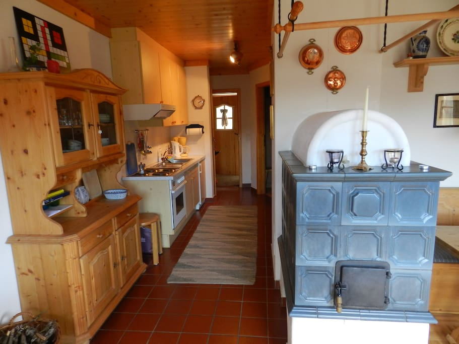 Living room + hallway + kitchen