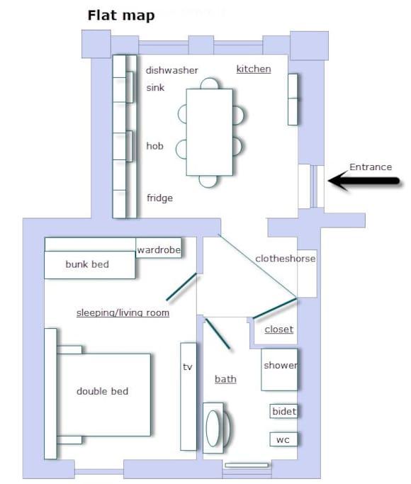 Mappa appartamento -Flat map