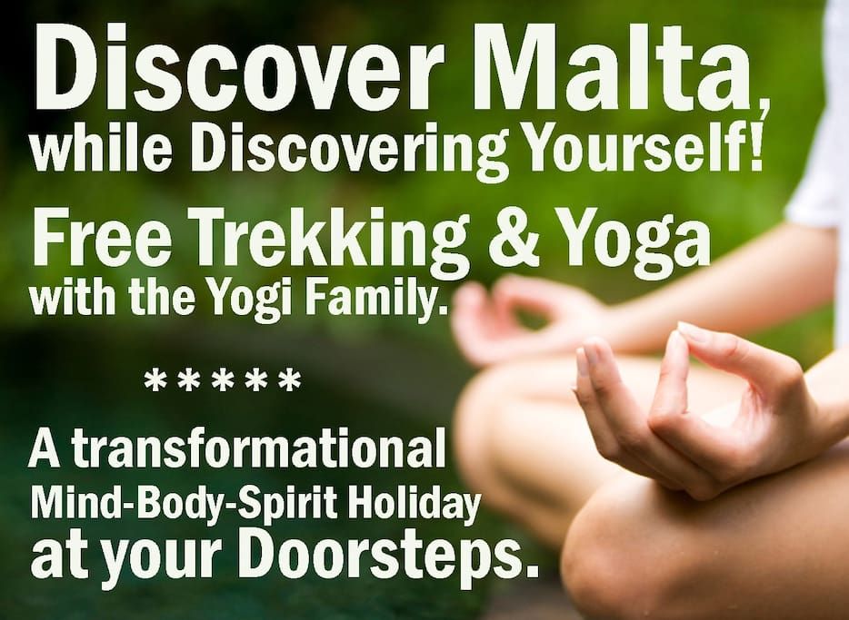 Beside your amazing en-suite double room we offer you free yoga and pilates classes at our yoga studio.