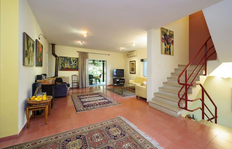 wonderful Villa - Fireplace &Garden - Herzliyya - Rumah