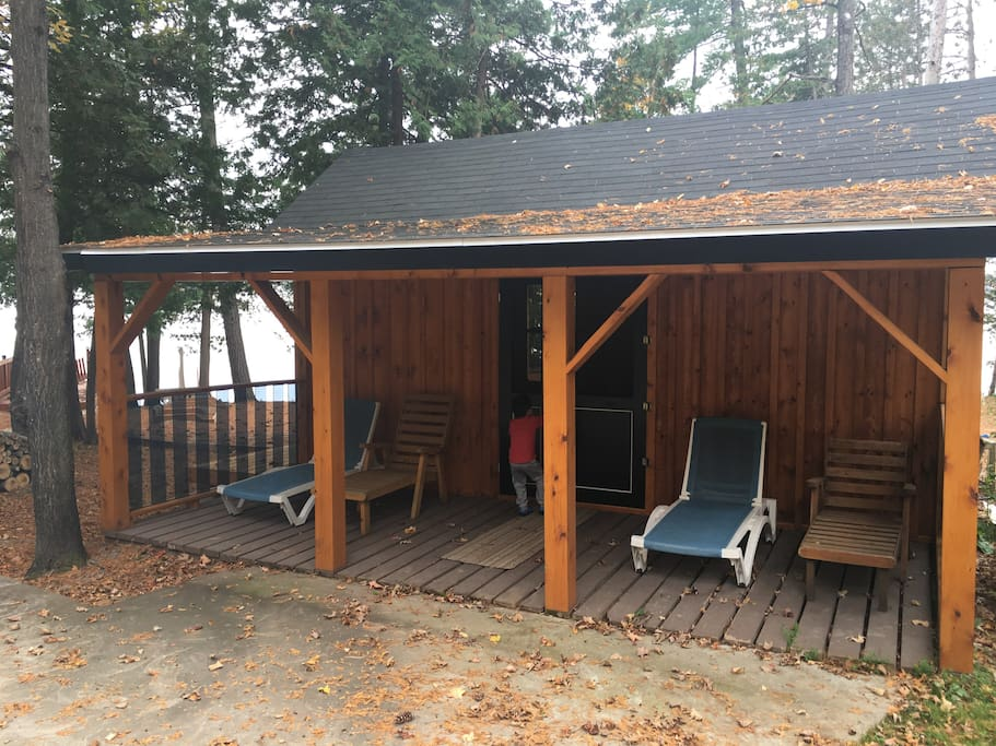 Separate outbuilding for additional relaxation