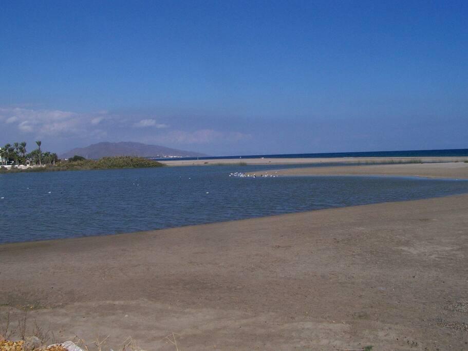 closed beach (3km.) Puerto Rey