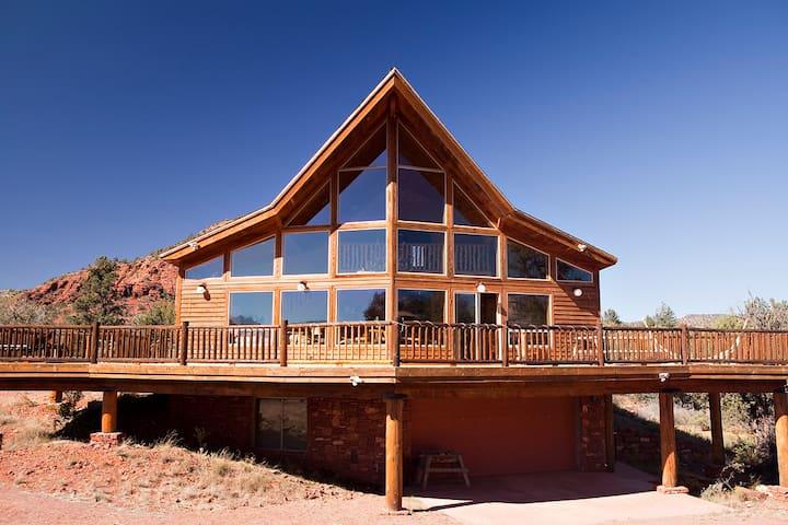 A beautiful cedar A frame Cabin