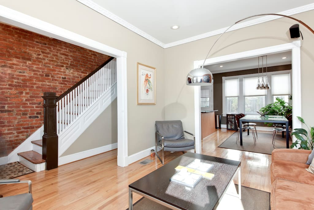 Hardwood floors thru out house