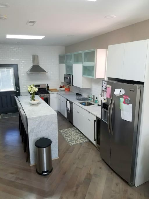 Kitchen with top of the line appliances