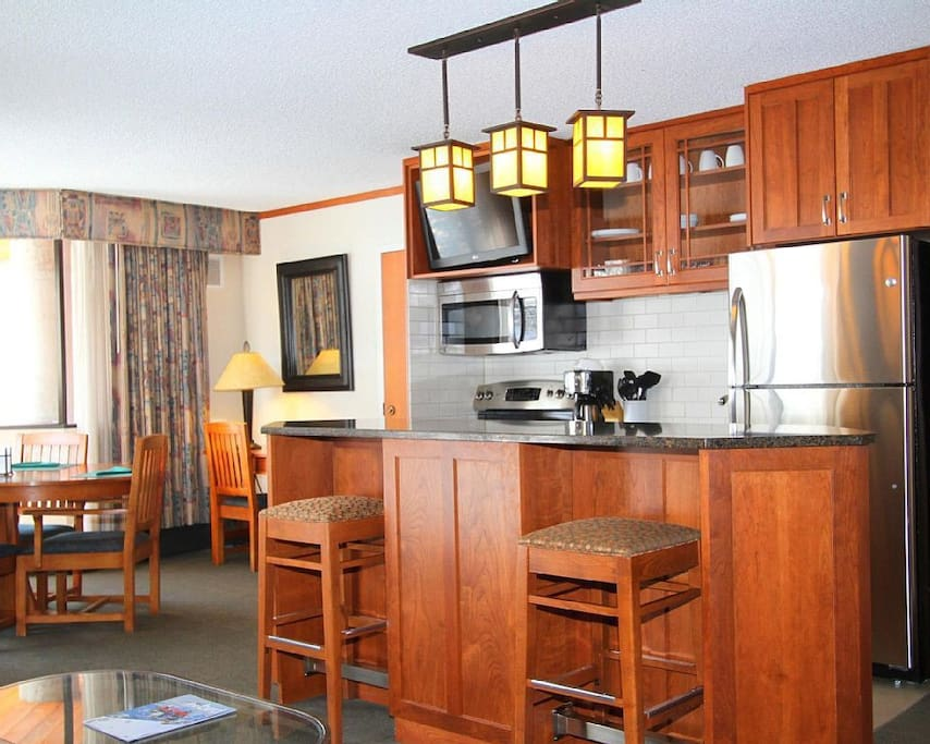 Unit living room and kitchen