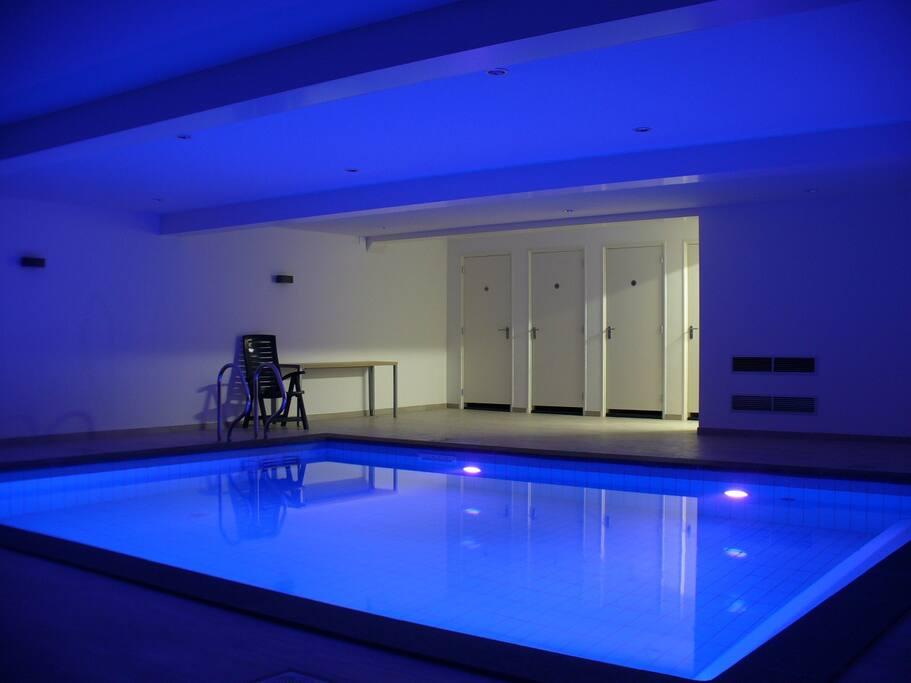 geweldig verwarmd binnenzwembad