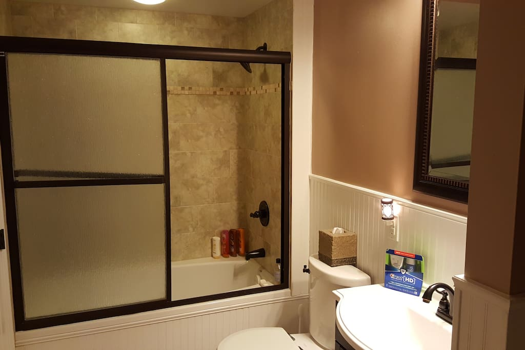 A full bathroom all to yourself. If you need anything, please let us know!