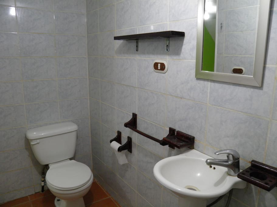 A clean bathroom with all updated amenities