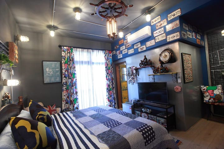 Industrial Style Double room Bear Forest Retro B&B