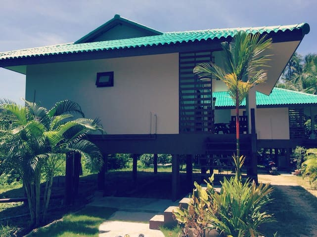 Modern 2BR high rise house surrounded coconut palm