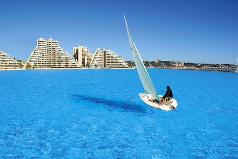 San Alfonso del Mar - World largest pool. Sea view