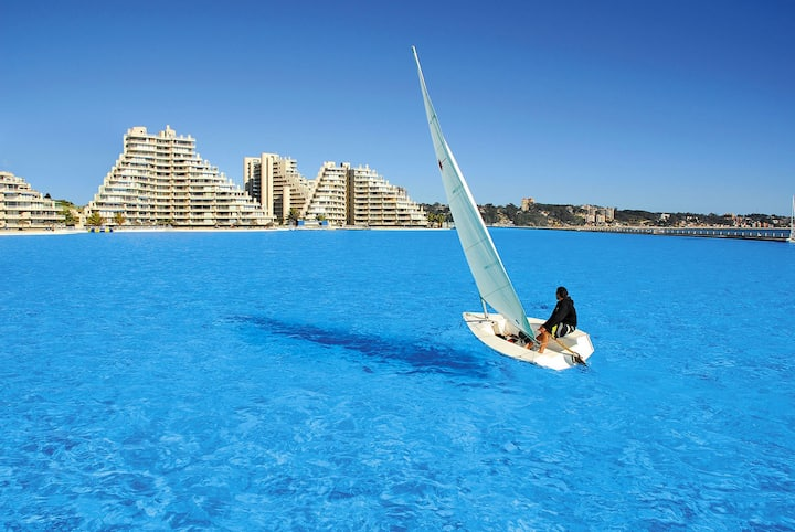 San Alfonso del Mar - World largest pool. Sea view