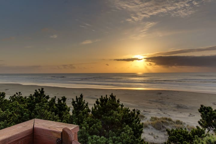 Oceanfront home with stunning views and private beach access - dogs OK!