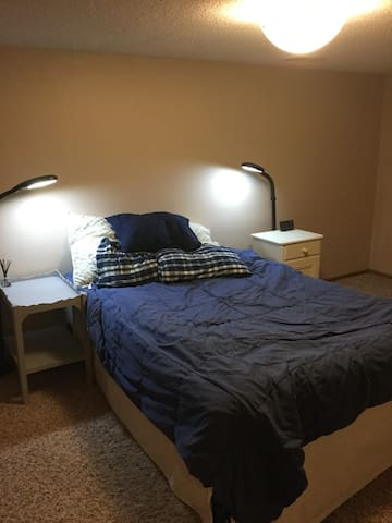 Private Bloomington MN Basement Room & Bathroom
