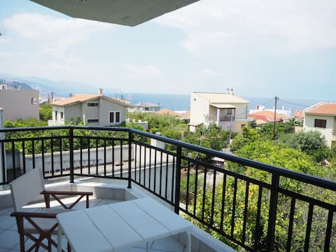 Cute flat with stunning sea view - 100 m from sea