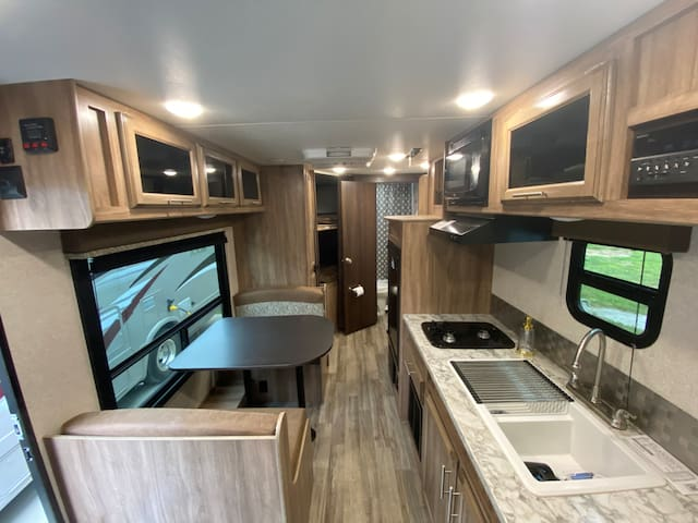 Camper at NEW RV Resort on Tims Ford Lake