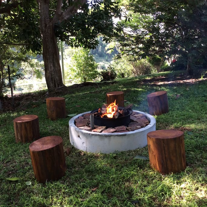 Our new fireplace and barbecue