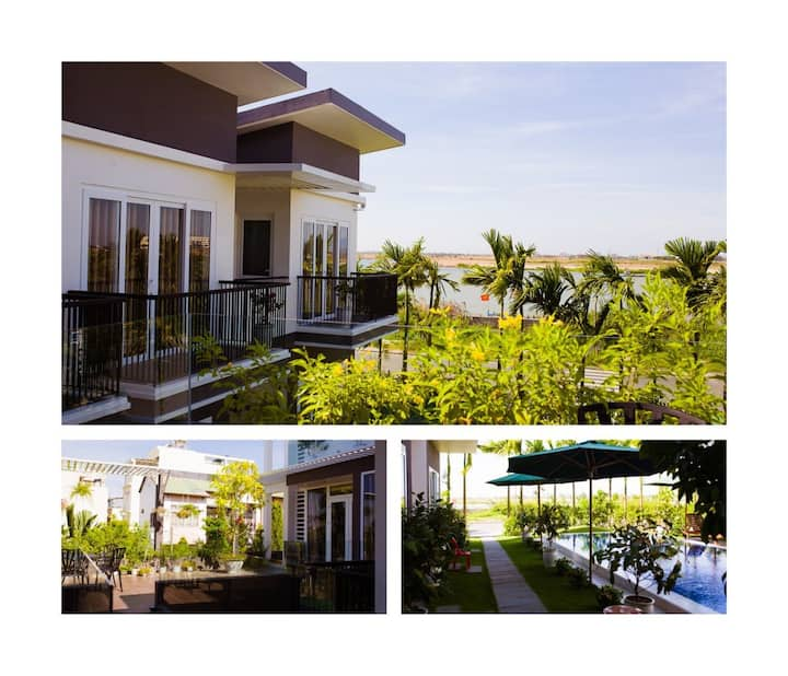 Riverside Villa - 2 cozy bedrooms for Family