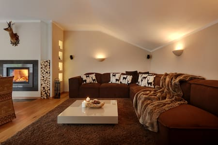 luxury lodge in the dolomites - Niederdorf