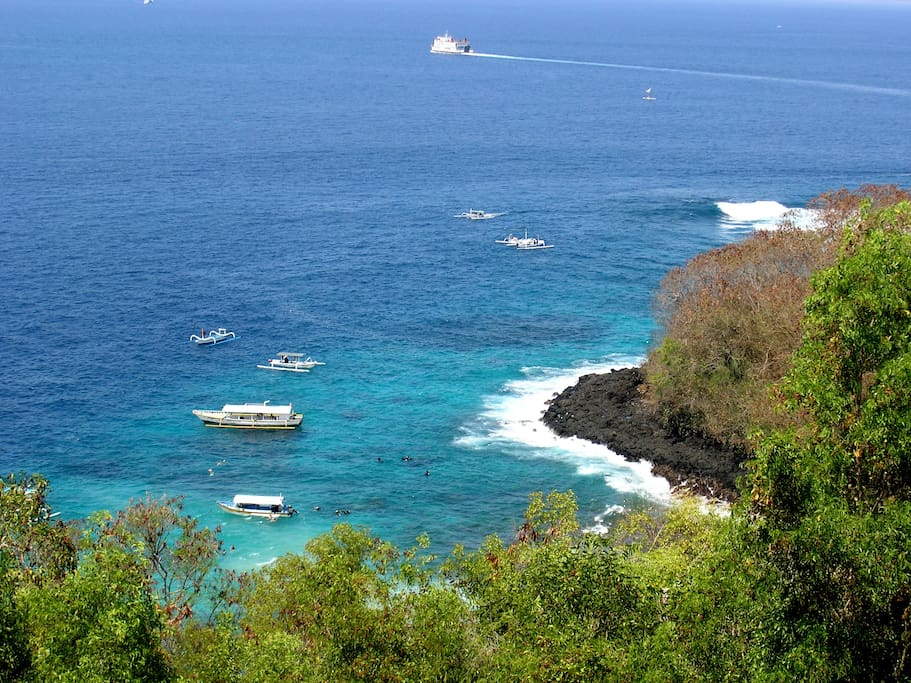 Blue Lagoon beach, a snorkeling and diving spot