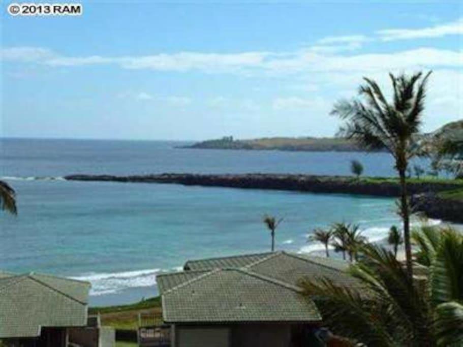 Views from this villa up the Kapalua coastline