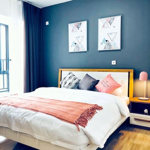时代广场温馨套一服务公寓/可做饭/可开票