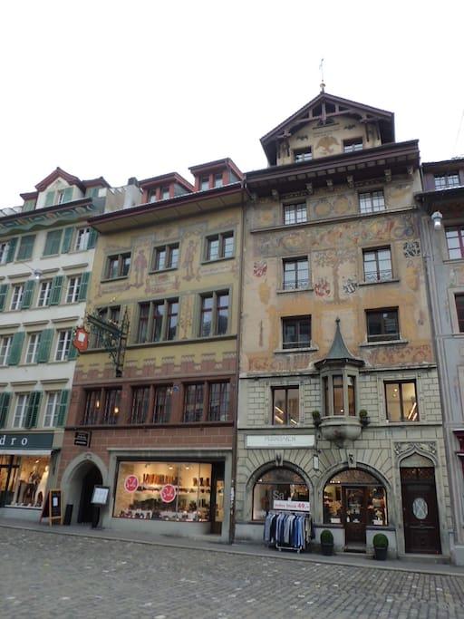 Altstadt Hotel Krone Apartments  Luzern facing the Weinmarkt
